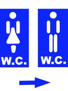 Restroom signs Stock Photos