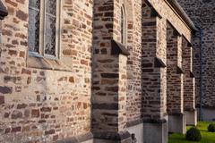 catholic stonewall church - stock photo