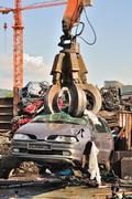 scrapyard - stock photo
