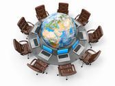 Concept of global business communication. Stock Illustration