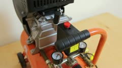 Air compressor close up Stock Footage