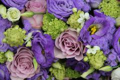 Stock Photo of bridal arrangement in different shades of purple