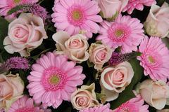 Bridal flower arrangement in pink Stock Photos