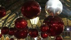 London Xmas Decorations 2012 Stock Footage