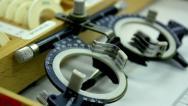 Lenses for the Eyesight Exam Stock Footage