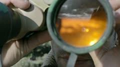 Binoculars Stock Footage
