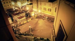 Time-lapse of a square in rome Stock Footage
