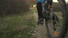 SLOW MOTION: bike riding Stock Footage