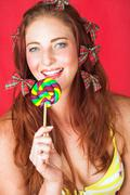 female fashion model - stock photo