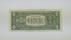 Reverse side dollars Stock Footage