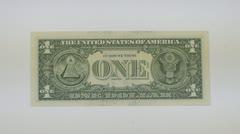 Reverse side of dollars Stock Footage