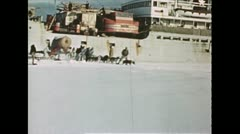 1940 - Antarctica Huskies In Action Stock Footage