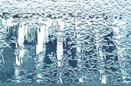 Stock Photo of frosted window texture