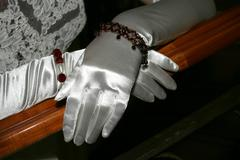 silk gloves - stock photo