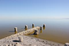 Salton Sea dock Stock Photos