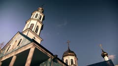 Christian church on a background of clouds, timelapse 1 Stock Footage