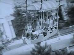Family on Gondola Ride - Coney Island - stock footage