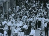 Crowd on Boardwalk - Coney Island Stock Footage
