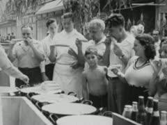 People Eating Corn - Coney Island Stock Footage
