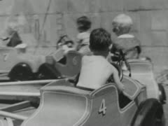 Kiddie Ride - Coney Island Stock Footage