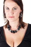 caucasian adult woman - stock photo