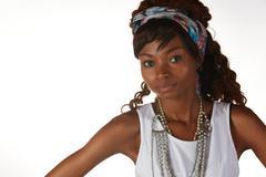 black african woman - stock photo