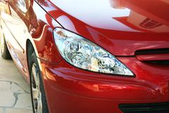 car headlights - stock photo