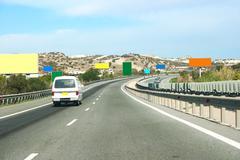 road to the mountain - stock photo