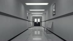 Scary Hospital Corridor 4 Stock Footage