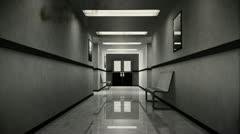 Scary Hospital Corridor 8 vintage 720 Stock Footage