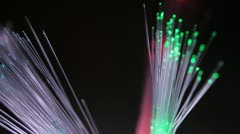 fiber optics - stock footage