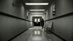 Scary Hospital Corridor 9 yurei vintage Stock Footage