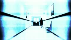 Scary Hospital Corridor 11 yurei security cam Stock Footage