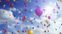 Colorful Balloons - Festive / Party Video Background Loop Stock Footage