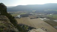 Farmland and Mountain Stock Footage