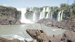 Majestic Iguazu Falls in Argentina Stock Footage