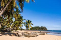 Tropical beach landscape Stock Photos