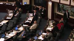 FLORIDA LEGISLATURE, 2013 SESSION-16 MEDIUM SHOT - stock footage
