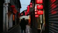Stock Video Footage of Dusk scenes of Shanghai Zhujiajiao ancient town