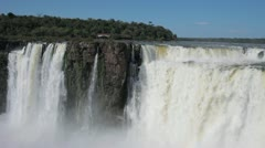 Majestic Iguazu Falls in Argentina Stock Footage