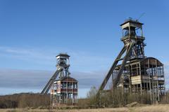 Vanha hiili kaivoskuilut Kuvituskuvat