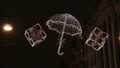 Oxford Street Xmas Lights 2012 - stock footage