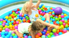 Cute Young Girls Enjoying Childhood Play Stock Footage