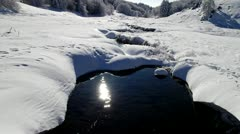 Snowy winter in mountains. - stock footage