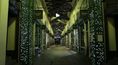 Covent Garden Indoor Xmas Decorations 2012 Stock Footage