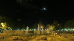 Mendoza Time Lapse - Public square and fountains - stock footage