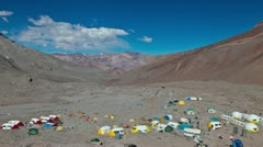 Aconcagua Time Lapse Wide shot of Plaza Argentina Stock Footage