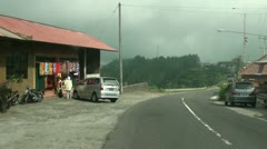 Leaving Kintamani village in Bali Stock Footage