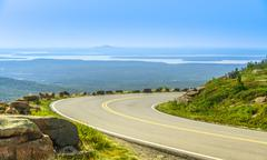 Cadillac mountain drive in acadia national park, maine in a clea Stock Photos