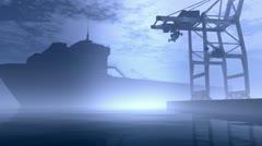 Industrial Port 6 720 Stock Footage